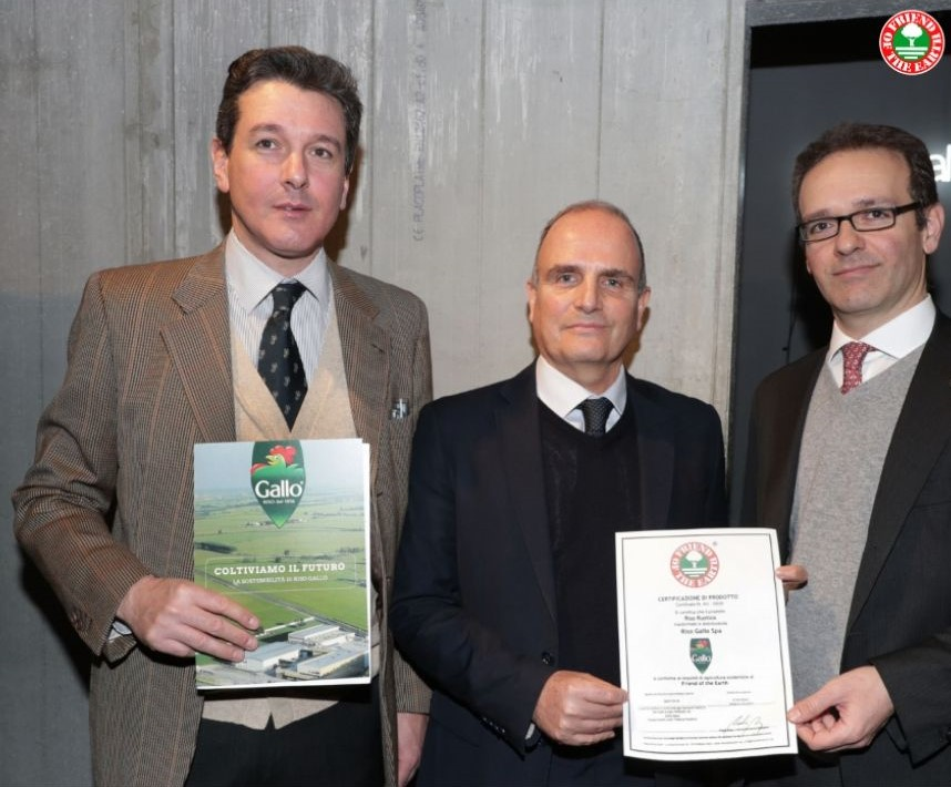 Major Italian rice producer Riso Gallo certified Friend of the Earth sustainable