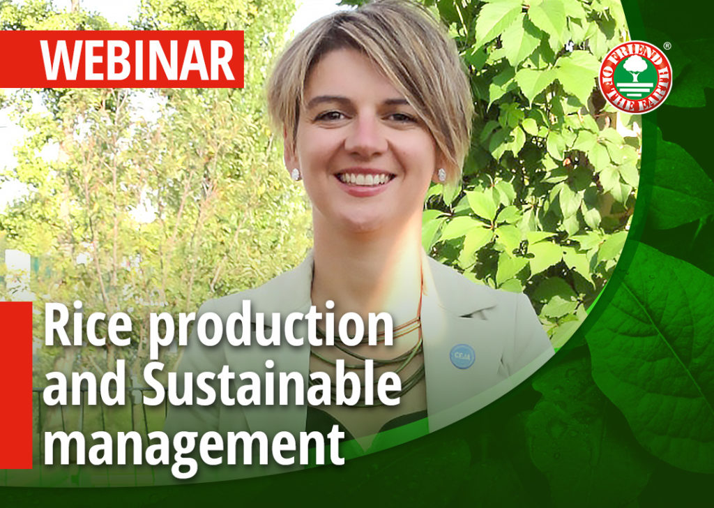 Webinar: Rice production and Sustainable management of the agro-ecosystem