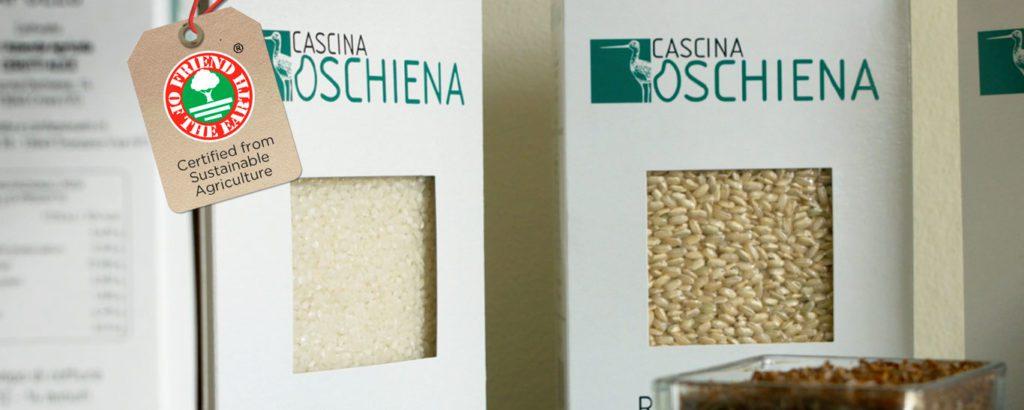 Il riso di Cascina Oschiena ottiene la certificazione Friend of the Earth per una produzione agricola sostenibile